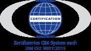 Zertifikat Peter Anders Steuerberatungsgesellschaft mbH ISO 9001:2015